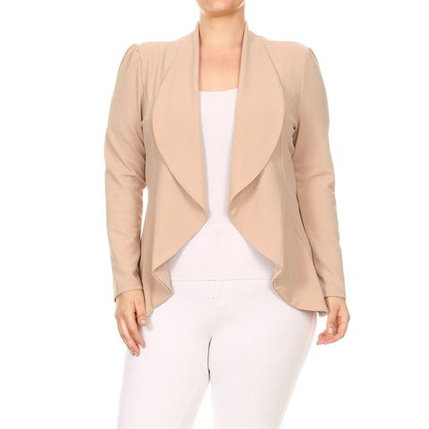 Women's Casual Stretch Comfort Blazer Jacket