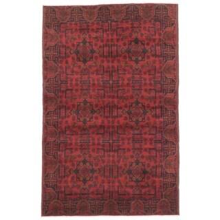 eCarpetGallery  Hand-knotted Finest Khal Mohammadi Dark Red Wool Rug - 4'1 x 6'5