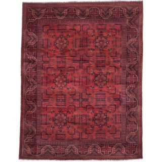 eCarpetGallery  Hand-knotted Finest Khal Mohammadi Dark Copper Wool Rug - 4'11 x 6'4