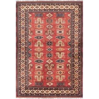 eCarpetGallery  Hand-knotted Finest Kargahi Dark Copper Wool Rug - 4'3 x 6'2