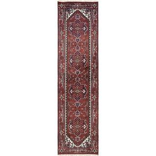 eCarpetGallery  Hand-knotted Serapi Heritage Dark Red Wool Rug - 2'7 x 9'10