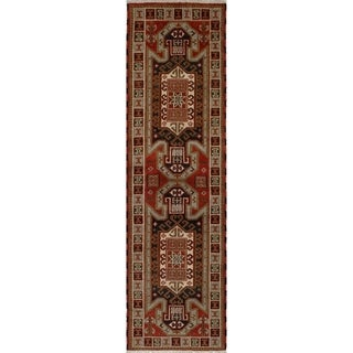 eCarpetGallery  Hand-knotted Royal Kazak Dark Copper Wool Rug - 2'9 x 9'9