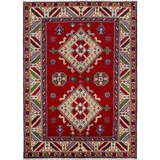 eCarpetGallery  Hand-knotted Royal Kazak Red Wool Rug - 4'9 x 6'7