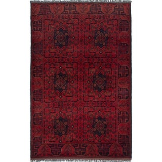 eCarpetGallery  Hand-knotted Finest Khal Mohammadi Red Wool Rug - 4'1 x 6'4