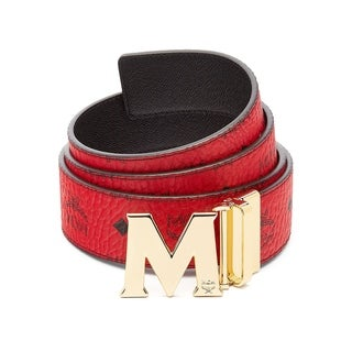 MCM Claus M Ruby Red Reversible Belt