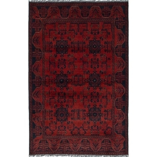 eCarpetGallery  Hand-knotted Finest Khal Mohammadi Red Wool Rug - 4'1 x 6'5