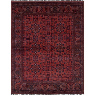 eCarpetGallery  Hand-knotted Finest Khal Mohammadi Red Wool Rug - 4'10 x 6'2