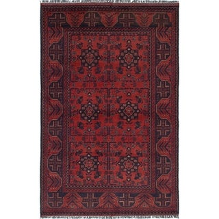 eCarpetGallery  Hand-knotted Finest Khal Mohammadi Dark Copper Wool Rug - 4'0 x 6'4