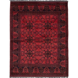 eCarpetGallery  Hand-knotted Finest Khal Mohammadi Dark Copper Wool Rug - 4'10 x 6'4