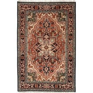 eCarpetGallery  Hand-knotted Royal Heriz Dark Copper Wool Rug - 4'0 x 6'1