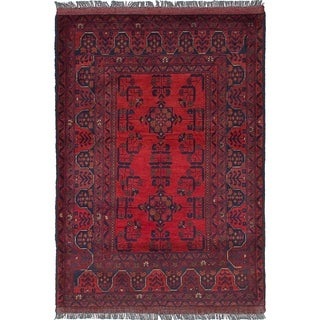 eCarpetGallery  Hand-knotted Finest Khal Mohammadi Red Wool Rug - 3'6 x 5'1