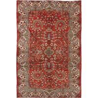 eCarpetGallery  Hand-knotted Melis Vintage Red Wool Rug - 5'6 x 8'6
