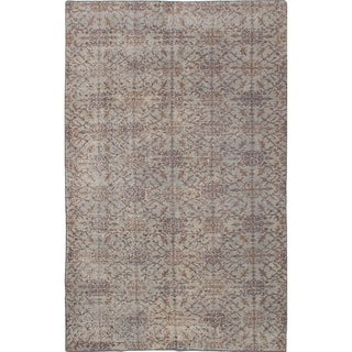 eCarpetGallery  Hand-knotted Color Transition Light Grey Wool Rug - 5'0 x 8'2