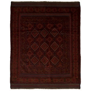 eCarpetGallery  Hand-knotted Tajik Caucasian Red Wool Rug - 4'8 x 5'10