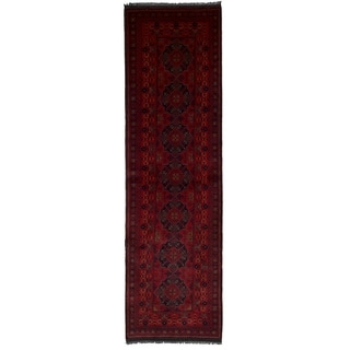 eCarpetGallery  Hand-knotted Finest Khal Mohammadi Red Wool Rug - 2'6 x 9'3