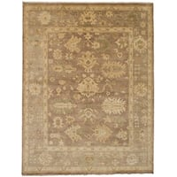 eCarpetGallery  Hand-knotted Royal Ushak Brown Wool Rug - 9'1 x 11'10