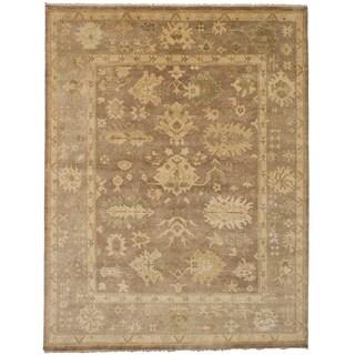 eCarpetGallery Hand-knotted Royal Ushak Brown Wool Rug - 9'1 x 11'10