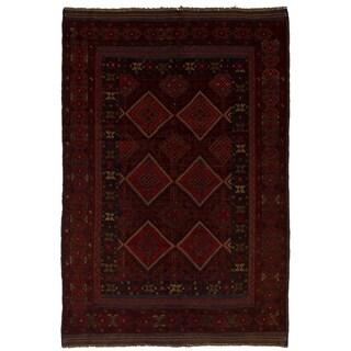 eCarpetGallery  Hand-knotted Tajik Caucasian Red Wool Rug - 4'1 x 6'3