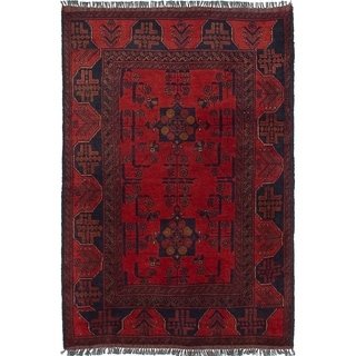 eCarpetGallery  Hand-knotted Finest Khal Mohammadi Dark Red Wool Rug - 3'1 x 4'8