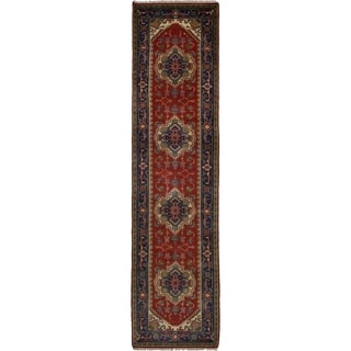 eCarpetGallery  Hand-knotted Serapi Heritage Red Wool Rug - 2'7 x 10'5
