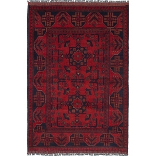 eCarpetGallery  Hand-knotted Finest Khal Mohammadi Red Wool Rug - 3'2 x 4'8