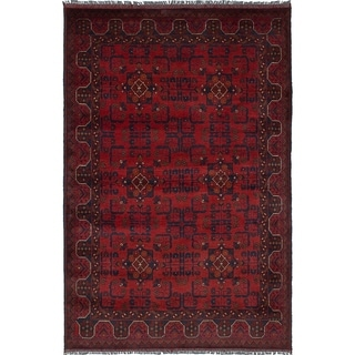 eCarpetGallery  Hand-knotted Finest Khal Mohammadi Red Wool Rug - 4'3 x 6'5