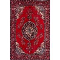 eCarpetGallery  Hand-knotted Melis Vintage Dark Red Wool Rug - 6'5 x 9'8