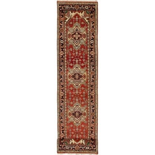 eCarpetGallery  Hand-knotted Serapi Heritage Red Wool Rug - 2'7 x 11'11
