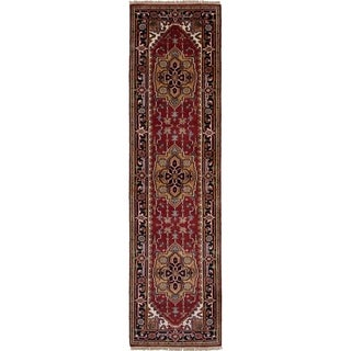 eCarpetGallery  Hand-knotted Serapi Heritage Red Wool Rug - 2'7 x 9'10