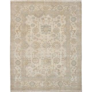 eCarpetGallery Hand-knotted Royal Ushak Cream Wool Rug - 8'0 x 10'0