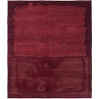 eCarpetGallery  Hand-knotted Opulence Dark Red Wool Rug - 6'7 x 7'9