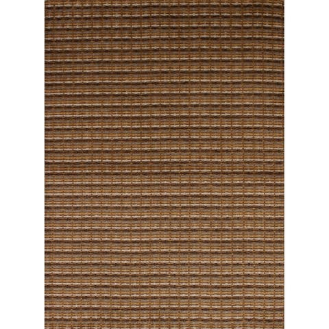Hand-knotted Gabbeh Riz Tan Wool Rug