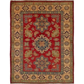 eCarpetGallery  Hand-knotted Finest Gazni Red Wool Rug - 4'11 x 6'4