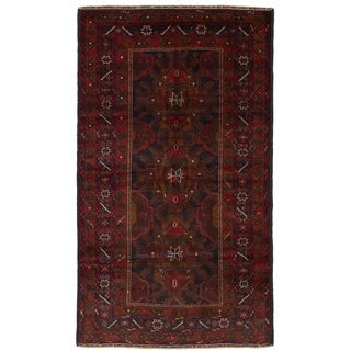 eCarpetGallery  Hand-knotted Rizbaft Red Wool Rug - 3'9 x 6'7