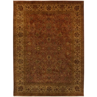 eCarpetGallery  Hand-knotted Jamshidpour Brown Wool Rug - 8'5 x 11'5
