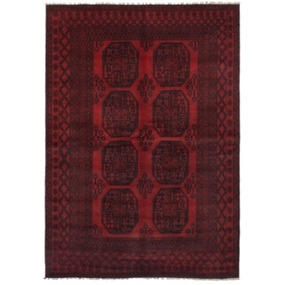eCarpetGallery  Hand-knotted Khal Mohammadi Red Wool Rug - 5'4 x 7'9