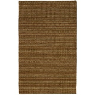 eCarpetGallery  Hand-knotted Luribaft Gabbeh Riz Brown Wool Rug - 4'10 x 7'10