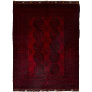 eCarpetGallery  Hand-knotted Khal Mohammadi Red Wool Rug - 5'9 x 7'4