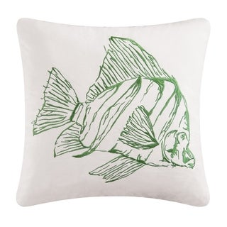 Finley the Tropical Fish Embroidered Pillow