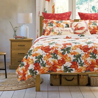 Barefoot Bungalow Falling Leaves Quilt Set