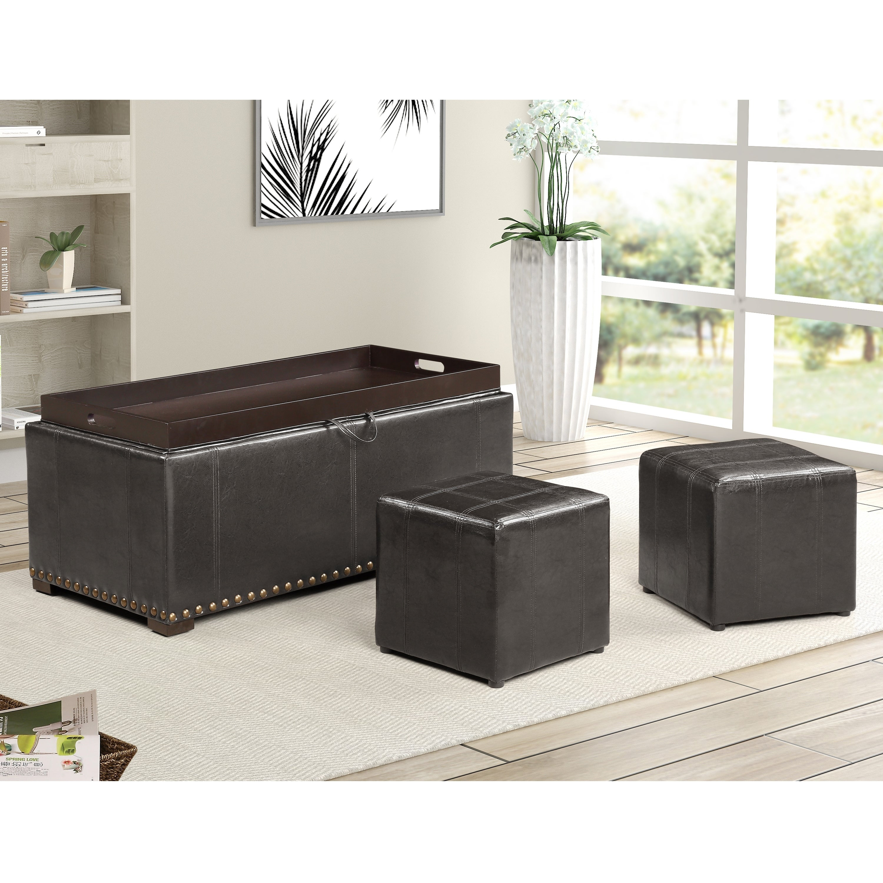 Magnificent Folding Storage Ottoman With Seat Back Footstool Space Theyellowbook Wood Chair Design Ideas Theyellowbookinfo
