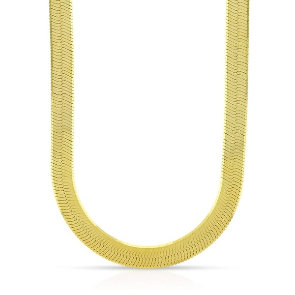 16 Inch Gold Herringbone Necklace: Shop 14k Yellow Gold 6mm Imperial Herringbone Chain