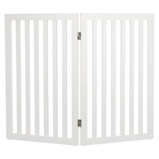 Wooden 2-Panel Pet Gate Extension (white) - WHITE