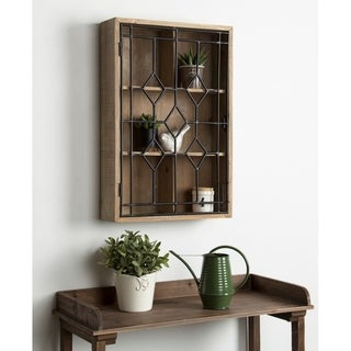 Kate and Laurel Megara Farmhouse Chic Wall Mounted Display Cupboard