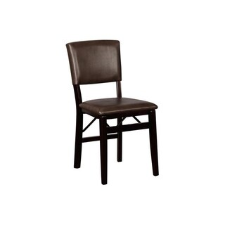 Linon Monte Carlo Sable Folding Chairs (Set of Two)