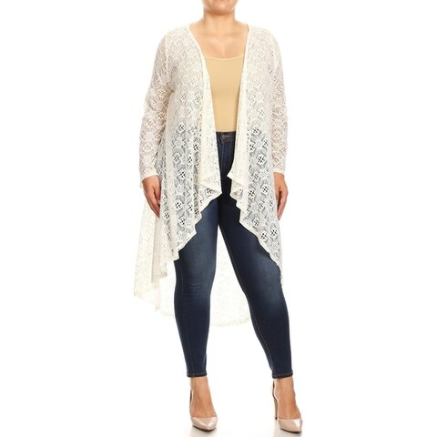 Women's Lightweight Sheer Lace Duster Cardigan