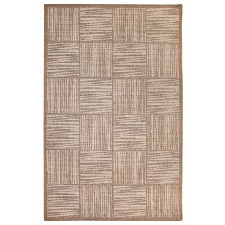 "Liora Manne Lines In Boxes Outdoor Rug (9'2"" x 12'3"") - 9'2"" x 12'3"""