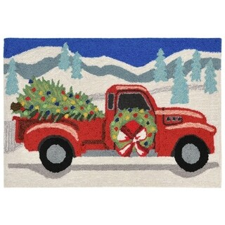 Holly Red Outdoor Rug (1'8 x 2' 6) - 1'8 x 2' 6