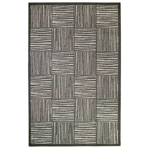 """Liora Manne Lines In Boxes Outdoor Rug (9'2"""" x 12'3""""). Opens flyout."""