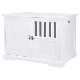 XL Coffee Table Style Dog Crate (white)